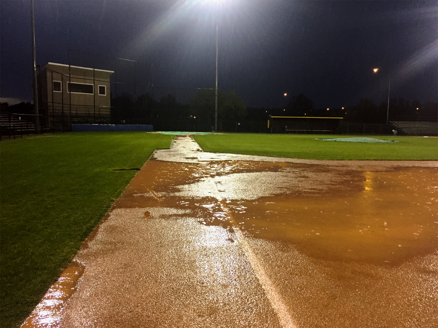Rained out at Palmer Field